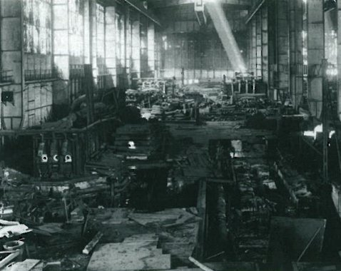 By the order of soviet military authorities a part of the plant machines and equipment was disassembled and shipped to Dnieprospecstal Plant on Zaporozhye (ZSRR) as spoils of war.